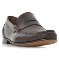 Bertie Primus Leather Penny Loafers Brown