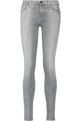 7 For All Mankind The Skinny Mid Rise Skinny Jeans Light Gray