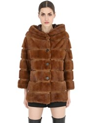 Simonetta Ravizza Hooded Mink Fur Coat