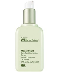 Dr. Andrew Weil For Origins Mega Bright Skin Tone Correcting Serum 1.7 Oz No Color