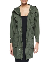 Atm Oversized Poplin Hooded Parka