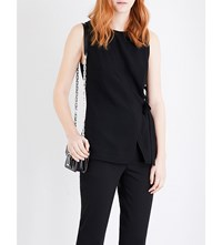 Proenza Schouler Wrap Around Sleeveless Crepe Top Black