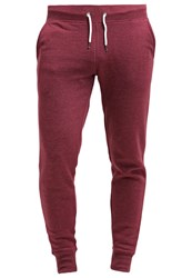 Zalando Essentials Tracksuit Bottoms Dark Red Melange Mottled Dark Red