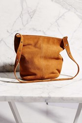 Ecote Suede Drape Hobo Bag Brown
