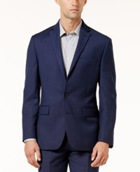 Ryan Seacrest Distinction Men's Modern Fit Birdseye Jacket Created For Macy's Navy