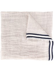Canali Frayed Edge Scarf Nude Neutrals