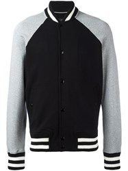 Rag And Bone Striped Detailing Bomber Jacket Black