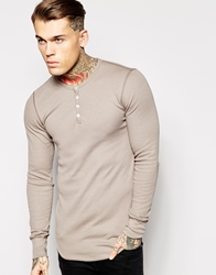 American Apparel Henley Top Pewter