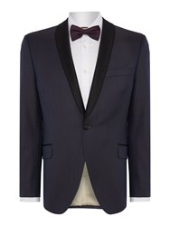 Corsivo Men's Rocco Satin Shawl Lapel Blazer Plum