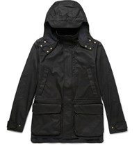 The Workers Club Printed Cotton Blend Ripstop Jacket Black
