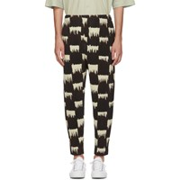 Homme Plisse Issey Miyake Brown And White Wild Check Trousers