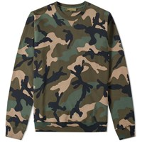Valentino Camouflage Crew Sweat Green