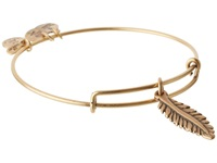 Alex And Ani Feather Charm Bangle Rafaelian Gold Finish Bracelet