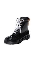 See By Chloe Florrie Lace Up Rain Boots Nero
