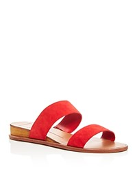 Dolce Vita Payce Demi Wedge Slide Sandals Red