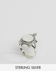 Regal Rose Sterling Silver Mother Of Pearl Tortoise Ring Silver