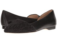Cole Haan Amalia Skimmer Black Lace Leather Women's Flat Shoes