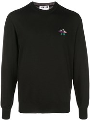 Versus Spaceship Embroidered Jumper Black