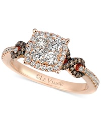 Le Vian Chocolate 1 10 Ct. T.W. And White 7 8 Ct. T.W. Diamond Braided Ring In 14K Rose Gold