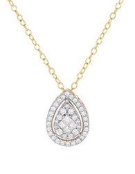 Lord And Taylor Diamonds 14K Yellow Gold Teardrop Pendant Necklace