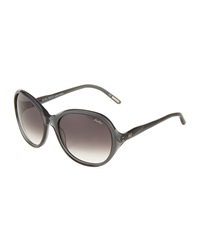 Nina Ricci Round Gradient Acetate Sunglasses Gray