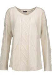 Splendid Cable Knit Sweater Cream