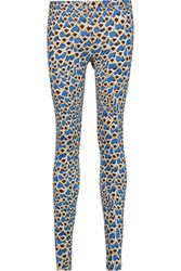 Just Cavalli Printed Stretch Jersey Leggings Bright Blue