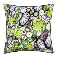 Roberto Cavalli Murrine Silk Cushion 40X40cm Green