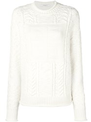 Givenchy Logo Knitted Jumper White