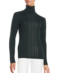 Dkny Ribbed Turtleneck Sweater Green