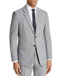 Theory Chambers Slim Fit Suit Separate Sport Coat Chrome Melange Gray