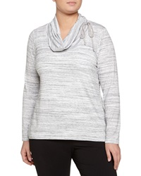 Balance Long Sleeve Cowl Neck Tee Heather White