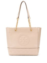 Tory Burch Fleming Tote Bag Neutrals