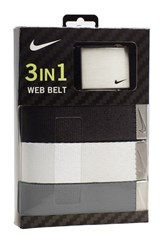 Men's Nike Web Belts Black White Grey 3 Pack