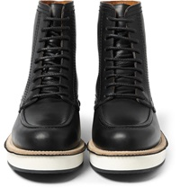 Givenchy Contrast Sole Leather Boots