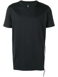 Versus Logo Tape T Shirt Black