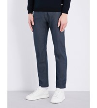 Hugo Boss Regular Fit Tapered Jeans Dark Blue