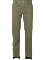Frame Cropped Trousers Green