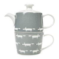 Scion Mr Fox Tea For One Tea Pot Dove Grey