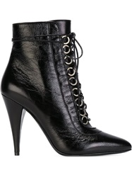 Saint Laurent Stiletto Heel Cat Boots Black