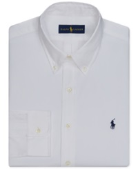 Polo Ralph Lauren Pinpoint Oxford Solid Dress Shirt White