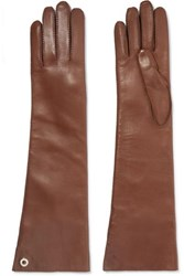 Loro Piana Leather Gloves Brown