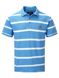 Tog 24 Wilson Stripe Polo Regular Fit Polo Shirt Blue