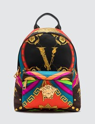 Versace Barocco Rodeo Print Palazzo Backpack Multicolor