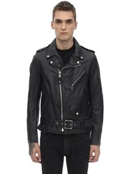 Schott 626 Leather Jacket W Padding Black