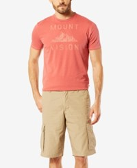 Dockers Men's Stretch Classic Fit Washed Cargo 10.5 Shorts D3 Beige Khaki