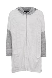 French Connection Klint Stitch Knit Hooded Sweatshirt White