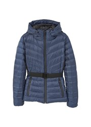 Mango Feather Down Coat Navy