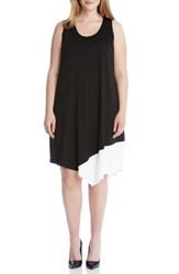 Karen Kane Plus Size Women's Colorblock Asymmetrical Tank Dress
