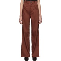 Telfar Burgundy Boot Cut Trousers